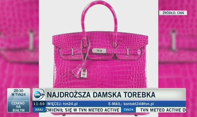 Najdroższa torebka sprzedana na aukcji to Birkin bag Hermesa 25c2db2bf7e